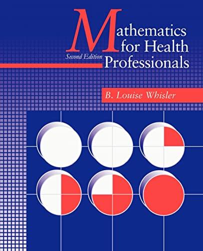 9781583482247: Mathematics for Health Professionals-Second Edition