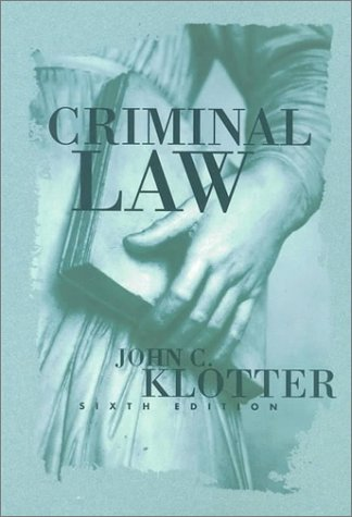 9781583605080: Criminal Law (Justice Administration Legal Series)