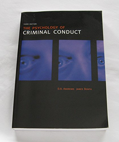 The Psychology of Criminal Conduct: D.A. Andrews, James