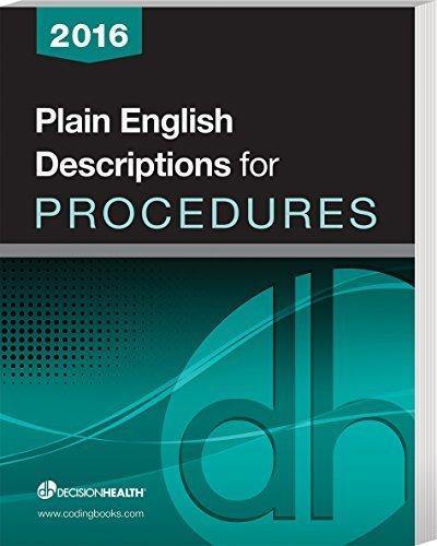 9781583838440: Plain English Descriptions for Procedures 2016