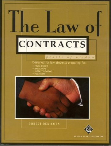 The Law of Contracts: Pearls of Wisdom (Pearl Law): Denicola, Robert