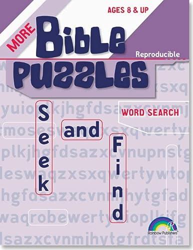 More Bible Puzzles -- Seek & Find: John Tiner, RoseKidz