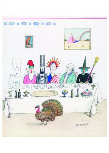9781584181149: Fotofolio Holiday Boxed Cards, All Holiday Feast - Cover drawing for The New Yorker, Nov. 29, 1976