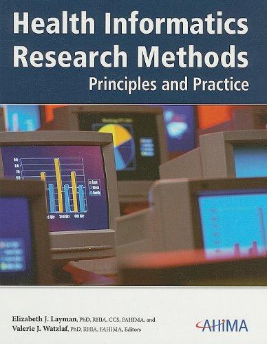 9781584261810: Health Informatics Research Methods: Principles and Practice