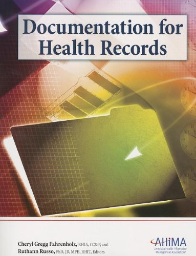 9781584262626: Documentation for Health Records