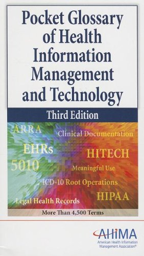 9781584263142: Pocket Glossary of Health Information Management and Technology