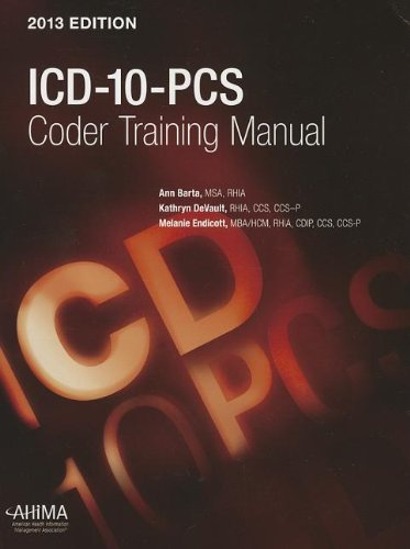 9781584263913: ICD-10-PCs Coder Training Manual