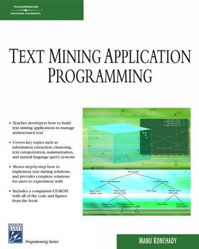 Text Mining Application Programming: Manu Konchady