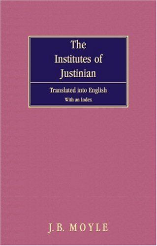 9781584771852: The Institutes of Justinian