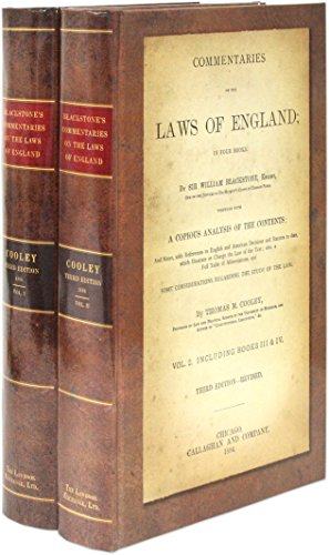 9781584773610: Blackstone's Commentaries on the Laws of England: Four books in 2 volumes