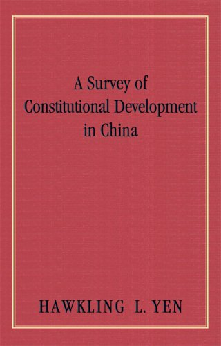 9781584774792: A Survey Of Constitutional Development In China (Columbia Studies in the Social Sciences)