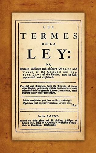 Les Termes de la Ley: John Rastell