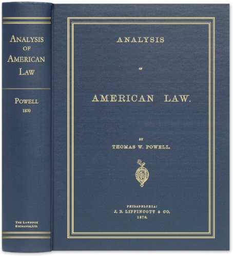 9781584778660: Analysis of American Law