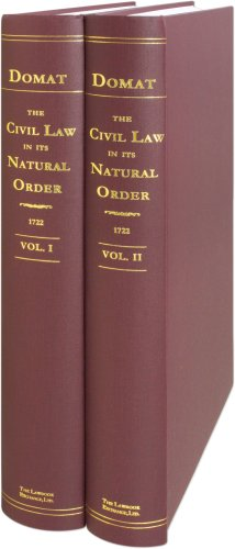 9781584778707: The Civil Law in Its Natural Order: Together with the Publick Law