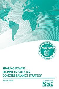 Sharing Power? : Prospects for A U.S. Concert-Balance Strategy: Porter, Patrick
