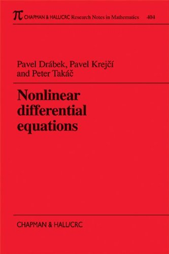 9781584880363: Nonlinear Differential Equations (Chapman & Hall/CRC Research Notes in Mathematics Series)
