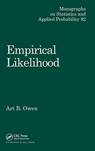 9781584880714: Empirical Likelihood