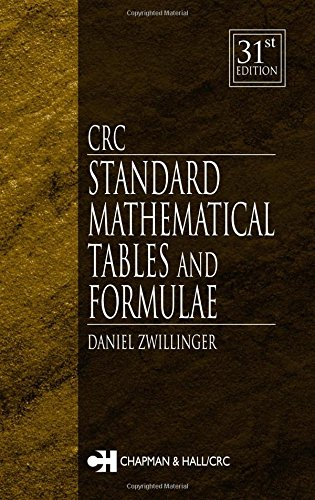 CRC Standard Mathematical Tables and Formulae, 31st