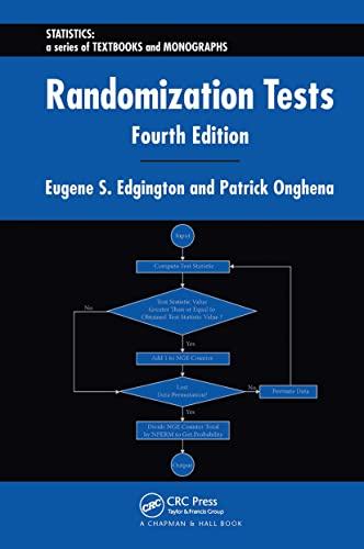 9781584885894: Randomization Tests (Statistics: A Series of Textbooks and Monographs)