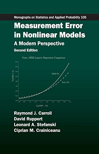 9781584886334: Measurement Error in Nonlinear Models: A Modern Perspective (Chapman & Hall/CRC Monographs on Statistics & Applied Probability)