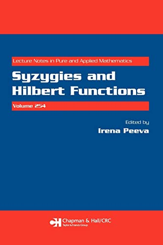 9781584888604: Syzygies and Hilbert Functions (Lecture Notes in Pure and Applied Mathematics)