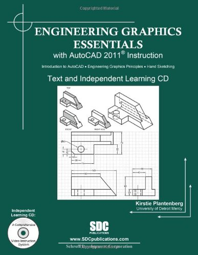 9781585035663: Engineering Graphics Essentials with AutoCAD 2011 Instruction