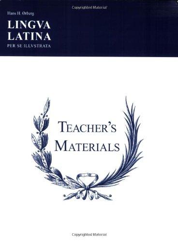 9781585100743: Lingua Latina Per Se Illustrata: Teachers' Materials