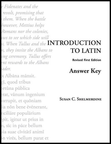 9781585102044: Introduction to Latin Answer Key
