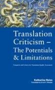 Translation Criticism-The Potentials and Limitations: Categories and: Katharina Reiss
