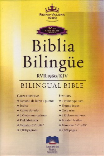 RVR60-KJV black bonded leather (Spanish and English: American Bible Society