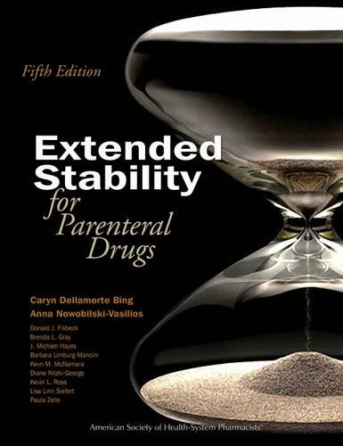 9781585283408: Extended Stability for Parenteral Drugs, 5th Edition