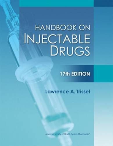 9781585283781: Handbook on Injectable Drugs