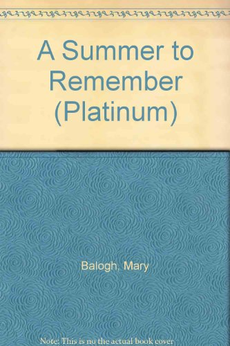 A Summer to Remember (Platinum) (English and Spanish Edition) (1585472697) by Mary Balogh