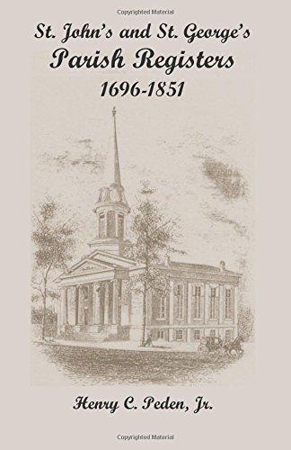 9781585490998: St. John's and St. George's Parish Registers: , 1696-1851