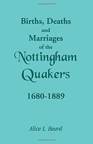 Birhts, Deaths and Marriages of the Nottingham Quakers 1680-1889