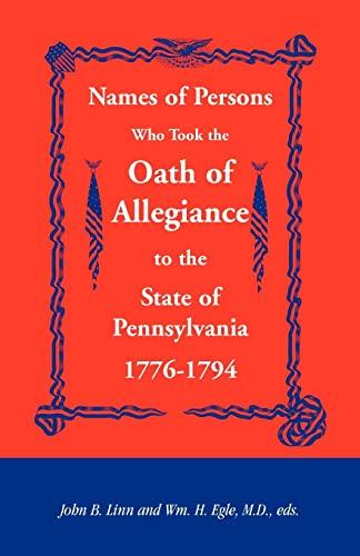 Names of Persons Who Took the Oath: John B Linn