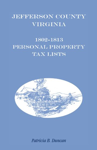 JEFFERSON COUNTY, [WEST] VIRGINIA, 1802-1813 PERSONAL PROPERTY TAX LISTS: Patricia B. Duncan