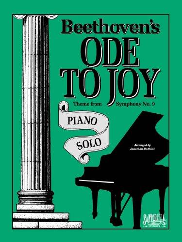 Ode To Joy For Intermediate Piano Solo: Robbins, Jonathon