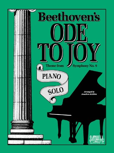 Ode To Joy For Intermediate Piano Solo: Jonathon Robbins