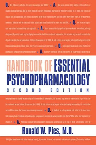 9781585621682: Handbook of Essential Psychopharmacology