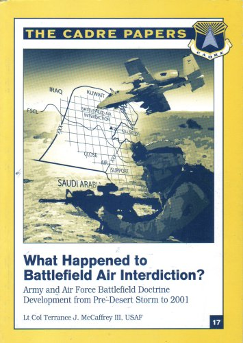 9781585661299: What Happened to Battlefield Air Interdiction? The Cadre Papers. Army and Air Force Battlefield Doctrine (The Cadre Papers No. 17)