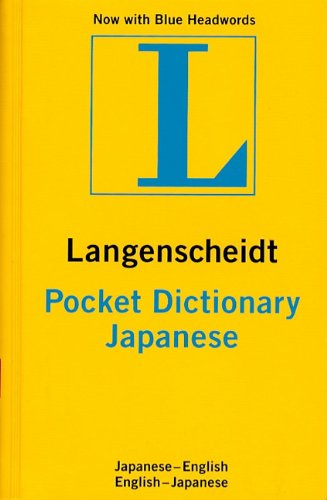 Langenscheidt's Pocket Dictionary Japanese/English English/Japanese