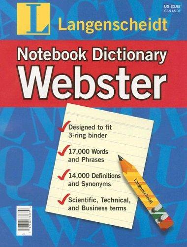9781585733774: Langenscheidt Webster Notebook Dictionary