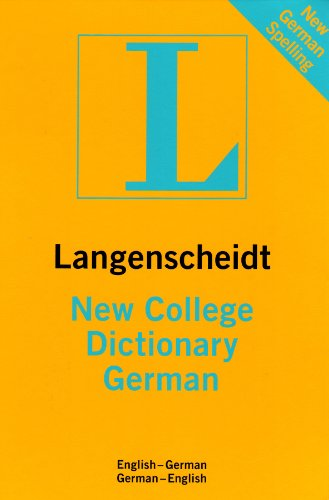 9781585735198: New College Dictionary German: English-German/German-English (Langenscheidt Standard Dictionaries) (English and German Edition)
