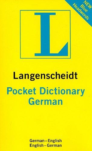 Langenscheidt Pocket German Dictionary: German-English English-German (Langenscheidt Pocket ...