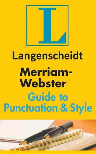9781585735945: Merriam-Webster Guide to Punctuation & Style