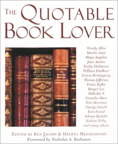 9781585746552: The Quotable Book Lover