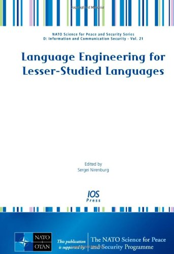 9781586039547: Language Engineering for Lesser-studied Languages (NATO Science for Peace and Security Series D: Information and Communication Security)