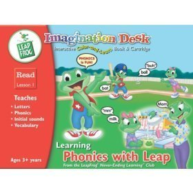 9781586057183: LeapFrog Imagination Desk Learning Phonics with Leap, Interactive Color & Learn Book & Cartridge, Le