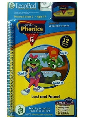 9781586057428: LeapPad Phonics Program, Lesson 5 - Consonant Blends (Interactive Book and Cartridge Included)
